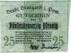 banknot 25 Pfennig z 1920 roku awers