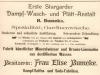 inserat firmy Bumcke z 1913 roku