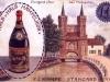 """firmowa pocztówka Mampe z reklamą likieru """"Halb und Halb (po 1905 r.)"""