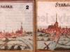 panorama Stargardu przed i po wojnie 30-letniej (data powstania ok. 1696)