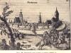 panorama Stargardu w końcu XVII wieku