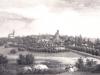 panorama Stargardu około 1843 roku