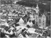 Rynek Staromiejski z lotu ptaka, zdjęcie lotnicze z 1930 roku