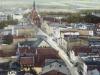 widok z wieży kolegiaty na ulicę Mieszka I