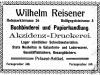 Reisener - inserat z 1915 r.