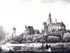 rzeka Ina, widok na miasto - 1843 r.