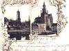 Pozdrowienia ze Stargardu, pocztówka wielotematyczna, litografia