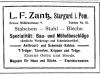 Zantz - inserat z 1915 r.